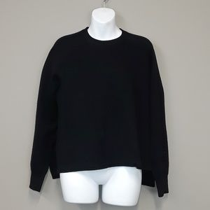 J. Crew black pullover sweater with side slits
